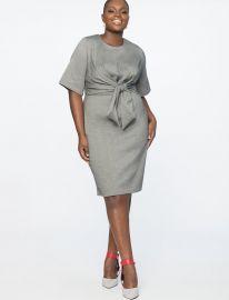 Tie Front Work Dress at Eloquii