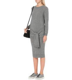 Tie Waist Sweater Dress at Sandro