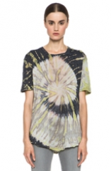 Tie dye tee by Raquel Allegra at Forward by Elyse Walker