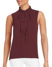 Tie neck blouse by Vince Camuto at Lord & Taylor