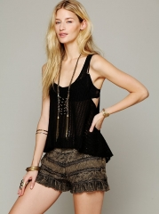 Tiered Ruffle Skort at Free People