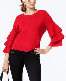 Tiered-Sleeve Sweater at Macys