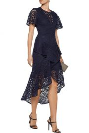 Tiered corded lace midi dress Rebecca Vallance at The Outnet