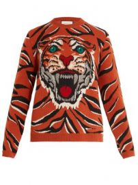 Tiger intarsia-knit wool sweater at Matches