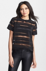 Tildon Stripe Sheer Blouse at Nordstrom
