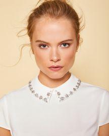 Tillda Embellished Collar Top by Ted Baker at Ted Baker