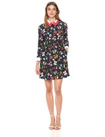 Tillena Skater Dress with Embellished Collar by Ted Baker at Amazon