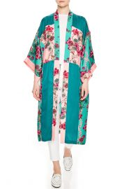 Ting Printed Color Blocked Kimono Jacket at Bloomingdales