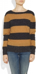 Tinseltextured stripe sweater by Band of Outsiders at Net A Porter