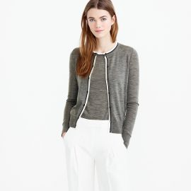 Tipped Jackie Cardigan in Graphite at J. Crew