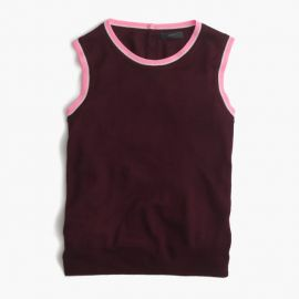Tipped Lightweight Wool Jackie Shell Cabernet Geranium at J. Crew