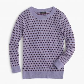 Tippi Sweater In Jacquard Dot in Purple at J. Crew