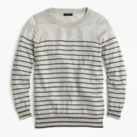 Tippi Sweater In Metallic Stripe at J. Crew