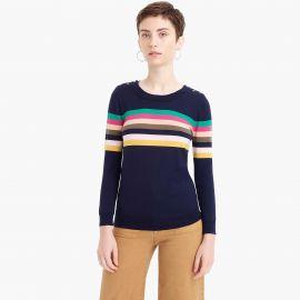 Tippi Sweater in Multi Stripe at J. Crew