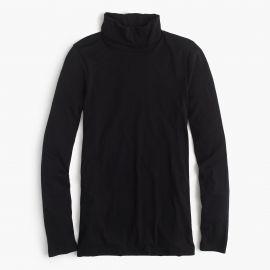 Tissue Turtleneck T-Shirt black at J. Crew