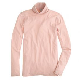 Tissue turtleneck tee in pink at J. Crew