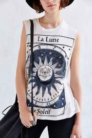 Title Unknown La Lune Foiled Muscle Tee at Urban Outfitters