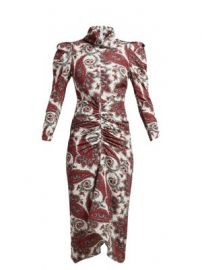 Tizy paisley-print silk high-neck dress at Matches