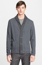 Todd Snyder Contrast Shawl Collar Cardigan at Nordstrom