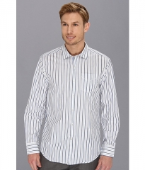 Tommy Bahama Denim Island Modern Fit Diamonds In The Stripe Shirt White at Zappos