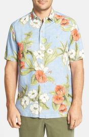 Tommy Bahama and39Floral Persuasionand39 Island Modern Fit Silk Campshirt at Nordstrom