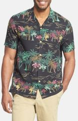 Tommy Bahama and39Palm Selleckand39 Island Modern Fit Print Short Sleeve Silk Campshirt at Nordstrom