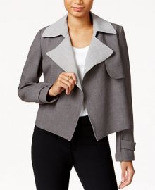 Tommy Hilfiger Contrast-Trim Trench Jacket at Macys