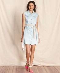 Tommy Hilfiger Dress Sleeveless Denim Shirtdress - Dresses - Women - Macys at Macys