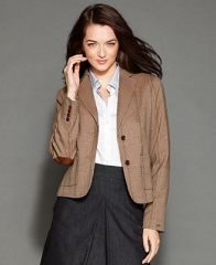 Tommy Hilfiger Jacket Plaid-Print Blazer - Women - Macys at Macys