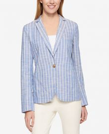 Tommy Hilfiger Long-Sleeve Striped Blazer  Only at Macy s at Macys