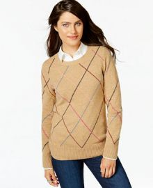 Tommy Hilfiger Multicolor Argyle Sweater at Macys