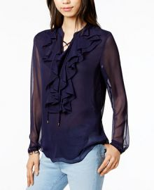 Tommy Hilfiger Ruffled Blouse  Only at Macy s at Macys