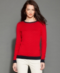Tommy Hilfiger Sweater LongSleeve Polka-Dot at Macys