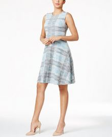 Tommy Hilfiger Tweed A-Line Dress at Macys