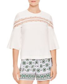Top: Adina Mesh-Inset Top by Sandro at Bloomingdales