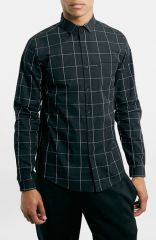 Topman Grid Check Pattern Shirt at Nordstrom