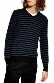 Topman Stripe V-Neck Sweater   Nordstrom at Nordstrom