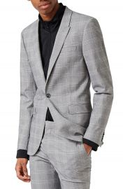Topman Ultra Skinny Fit Check Suit Jacket at Nordstrom