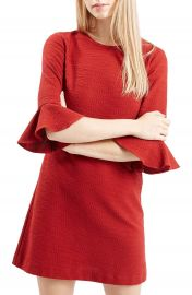 Topshop Fluted Sleeve Dress  Regular   Petite at Nordstrom