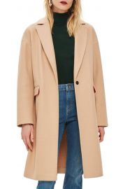 Topshop Lily Knit Back Midi Coat   Nordstrom at Nordstrom
