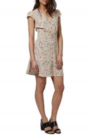 Topshop  Dog Daisy  Print Button Front Dress at Nordstrom