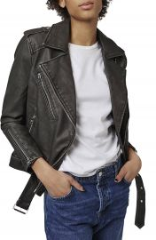 Topshop  Mahoney  Faux Leather Biker Jacket at Nordstrom