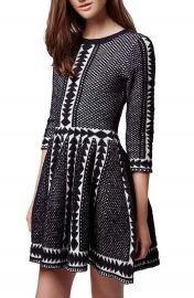 Topshop  Premium  Fit   Flare Sweater Dress at Nordstrom