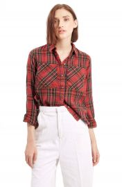 Topshop  Tartan Plaid Shirt at Nordstrom