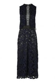 Topshop 2 Tone Lace Jumpsuit at Topshop