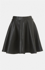 Topshop Andie Faux Leather Skater Skirt at Nordstrom