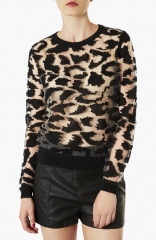 Topshop Animal Print Burnout Top at Nordstrom