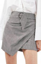 Topshop Belted Glen Plaid Miniskirt at Nordstrom