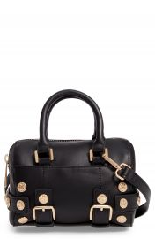 Topshop Bianca Studded Faux Leather Bowler Bag at Nordstrom