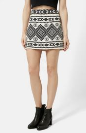 Topshop Blanket A-Line Skirt at Nordstrom